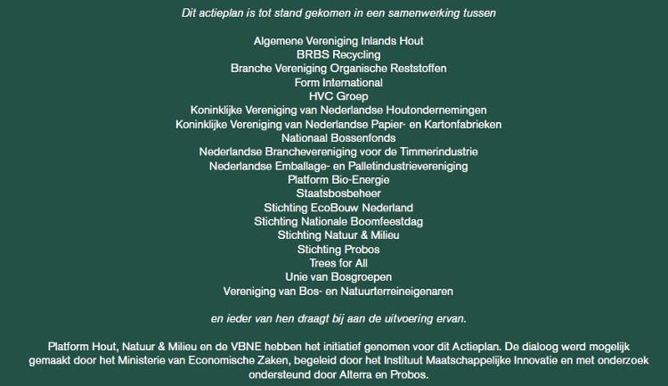 Actieplan bos en hout - partners